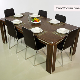 TINO WOODEN DINING TABLE