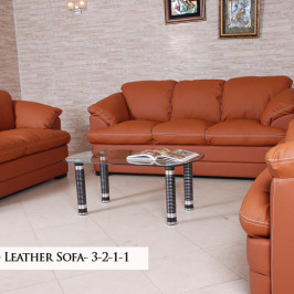 DOMINO LEATHER SOFA