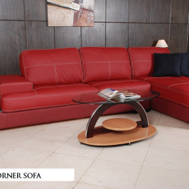 GENOA CORNER LEATHER SOFA