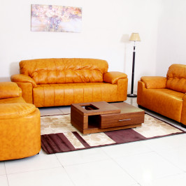 TEJ LEATHER SOFA