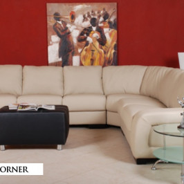 MORENO CORNER LEATHER SOFA