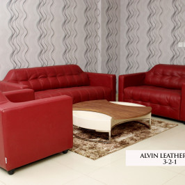 ALVIN LEATHER SOFA