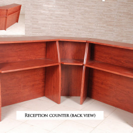 RECEPTION COUNTER (BACK VIEW)